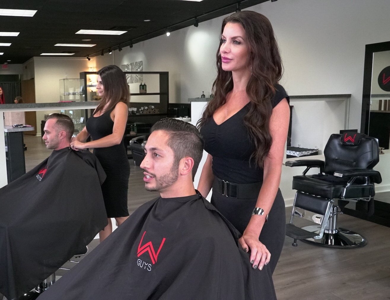 Men's Modern Barber Grooming Salon   Guy's Trendy Hair Salon ...