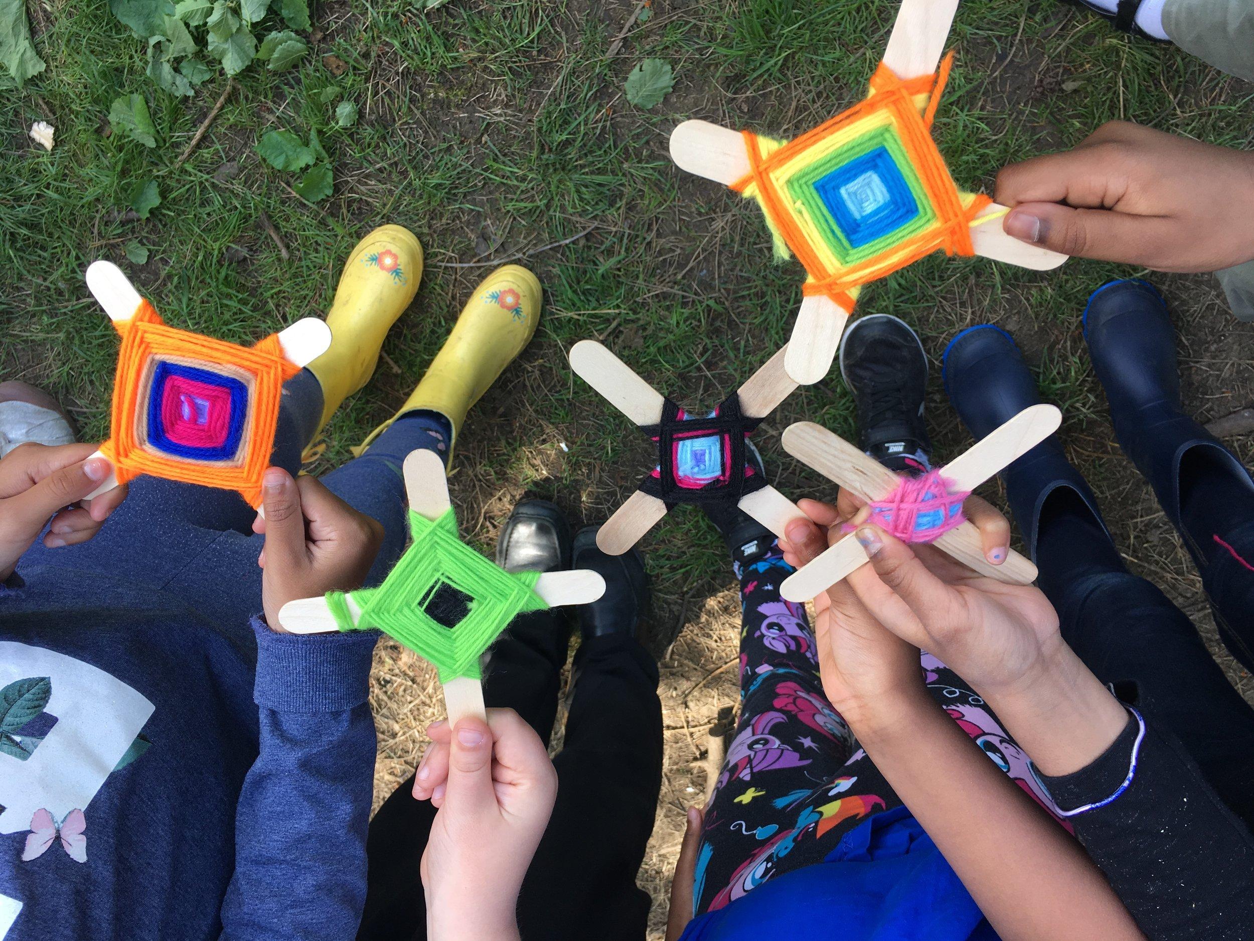 Weaving Forest School Hertfordshire