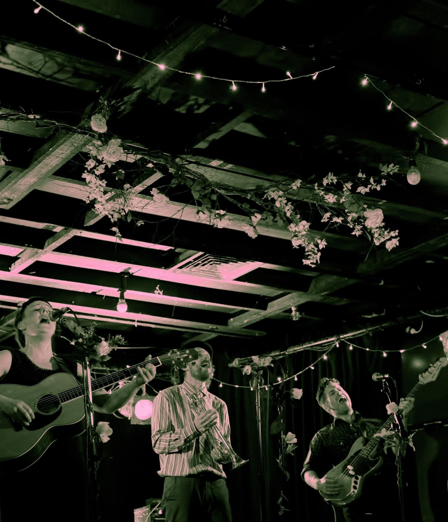 Eb & Sparrow, first album release gig. Wellington 2014