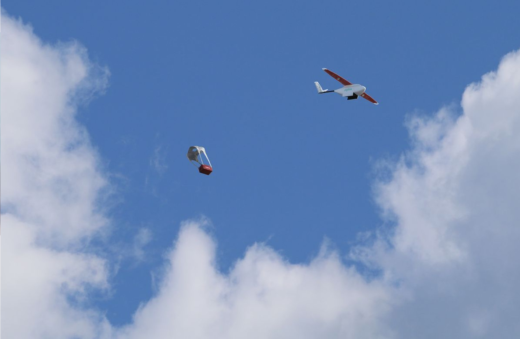 The Zipline delivery drone in Rwandan skies
