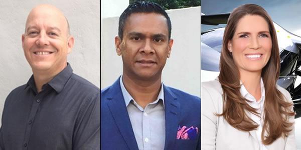 Our panel: Sean Reitz (CEO United Drone Holdings), Raj Wanniappa (CEO, Future Horizon Technologies), Heidi Patmore (CEO, Stellaris Group).