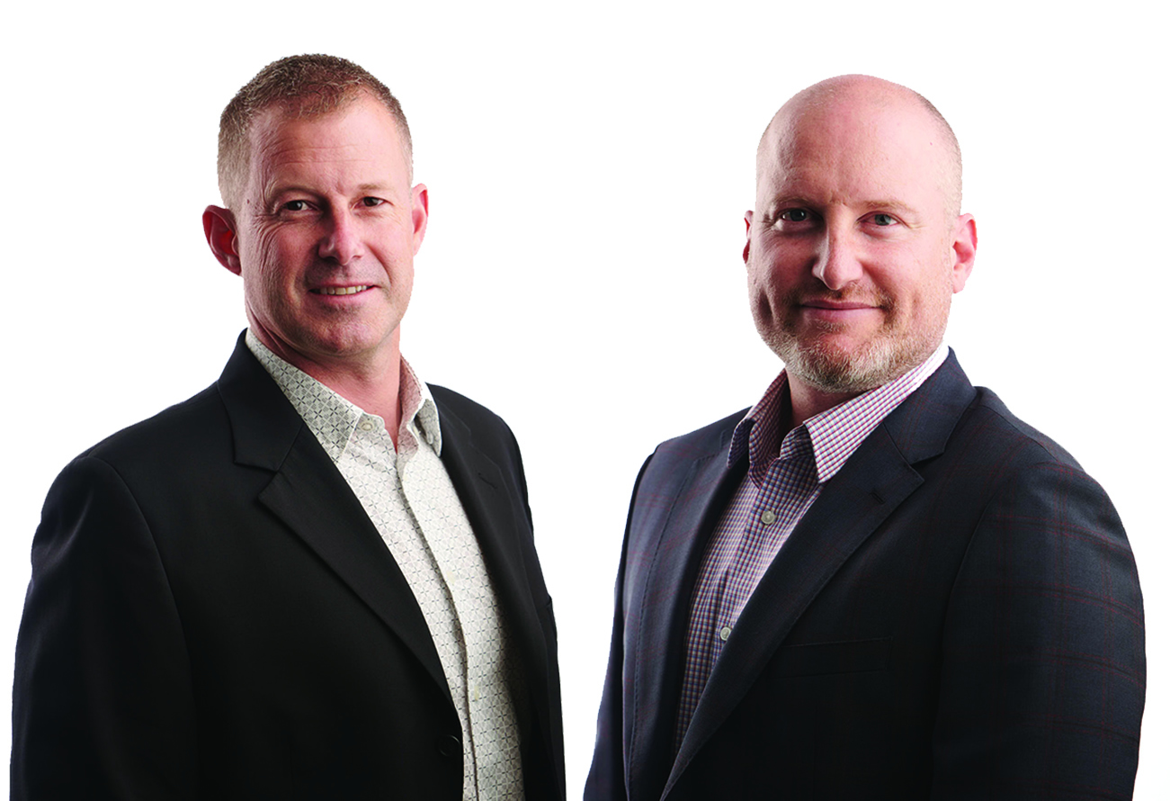 Centbee CEOs Angus Brown and Lorien Gamaroff