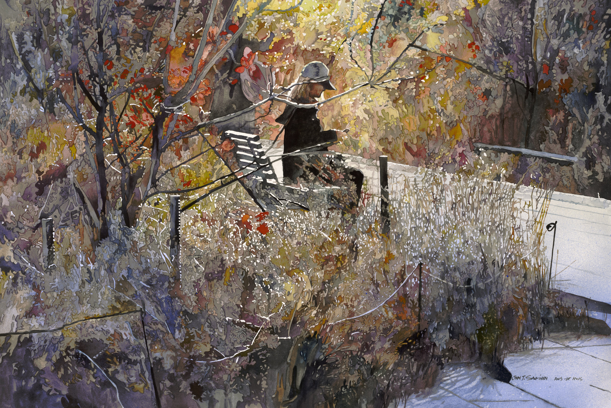 Autumn High Line  by John Salminen is currently on display in our Watercolor West exhibit.