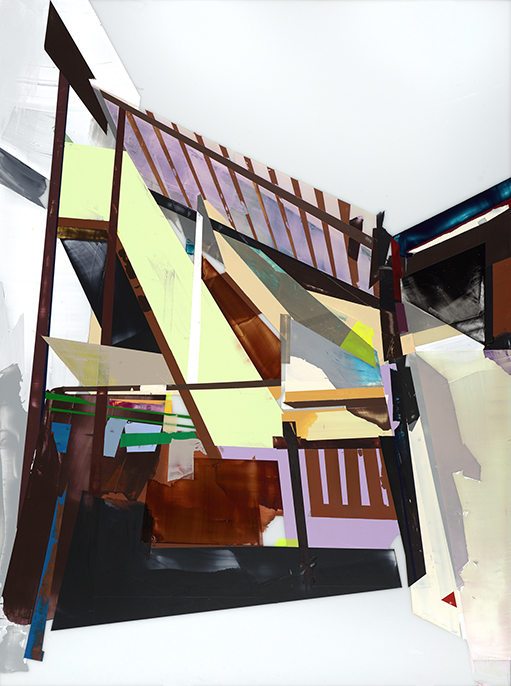 Back Street    Chloe Jeongmyo Kim  Acrylic on Plexiglass, 2017  48x36  $1,800.00