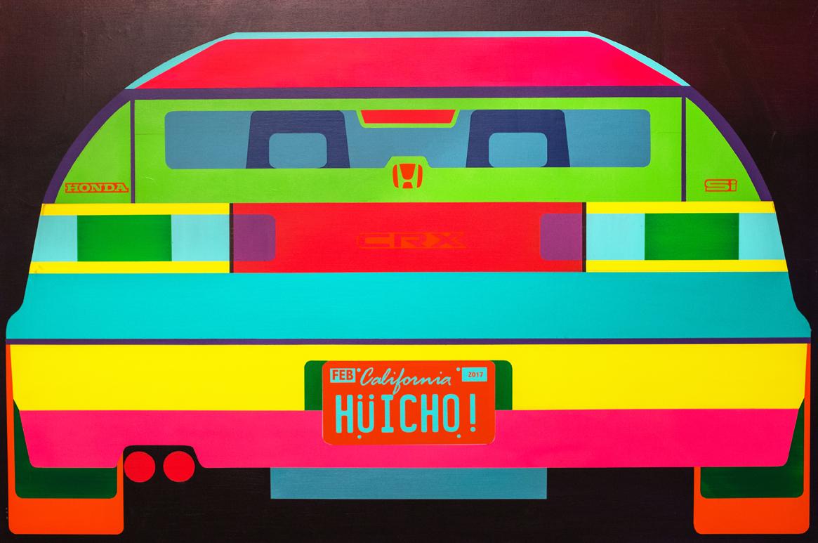 De Colores CRX    Hüicho!  Mixed Media on Canvas, 2017  48x72  $3,000.00
