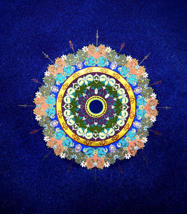 Illumination, Sun    Sadaf Manoushan  Gouache, 2016  27x23  $2,500.00