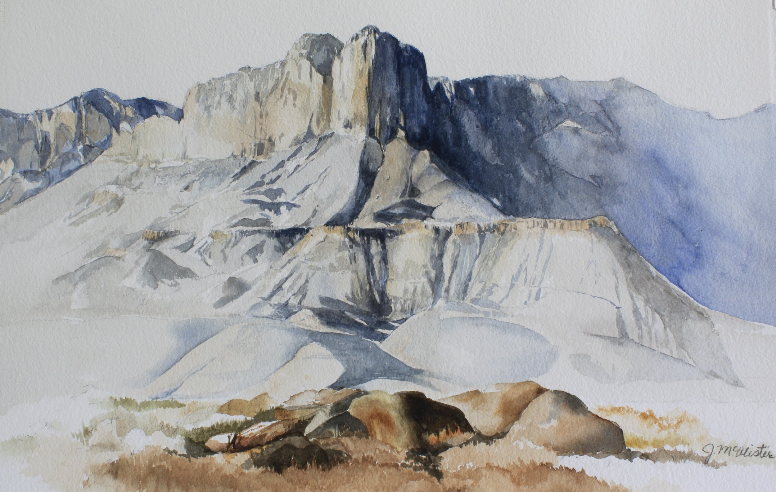 """Gualalupe Peak    by Jean McAlister, $2000  31"""" x 24"""""""