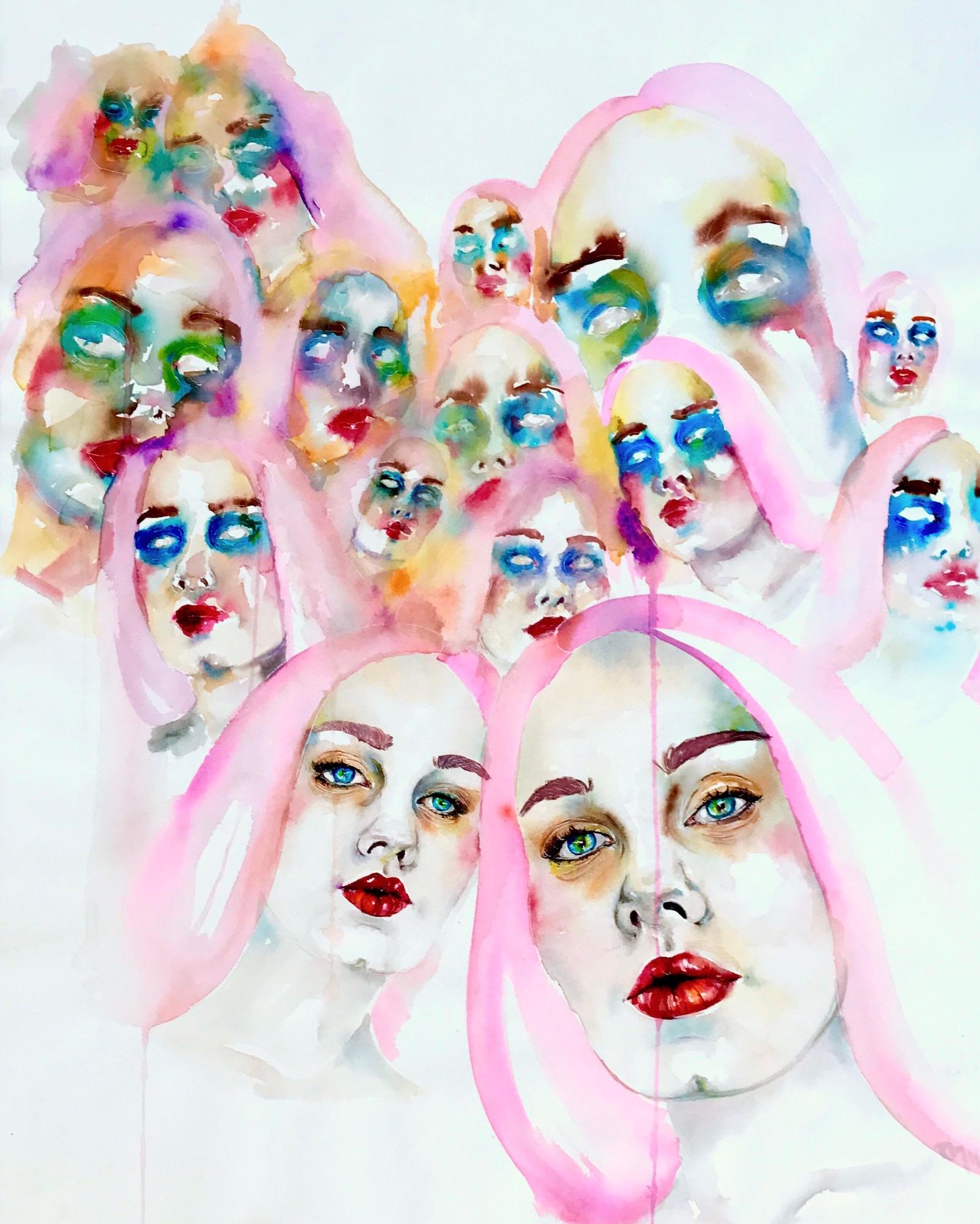 "Transcendence    by Ryah Massarweh, $1,000  33"" x 23"" x 1"""