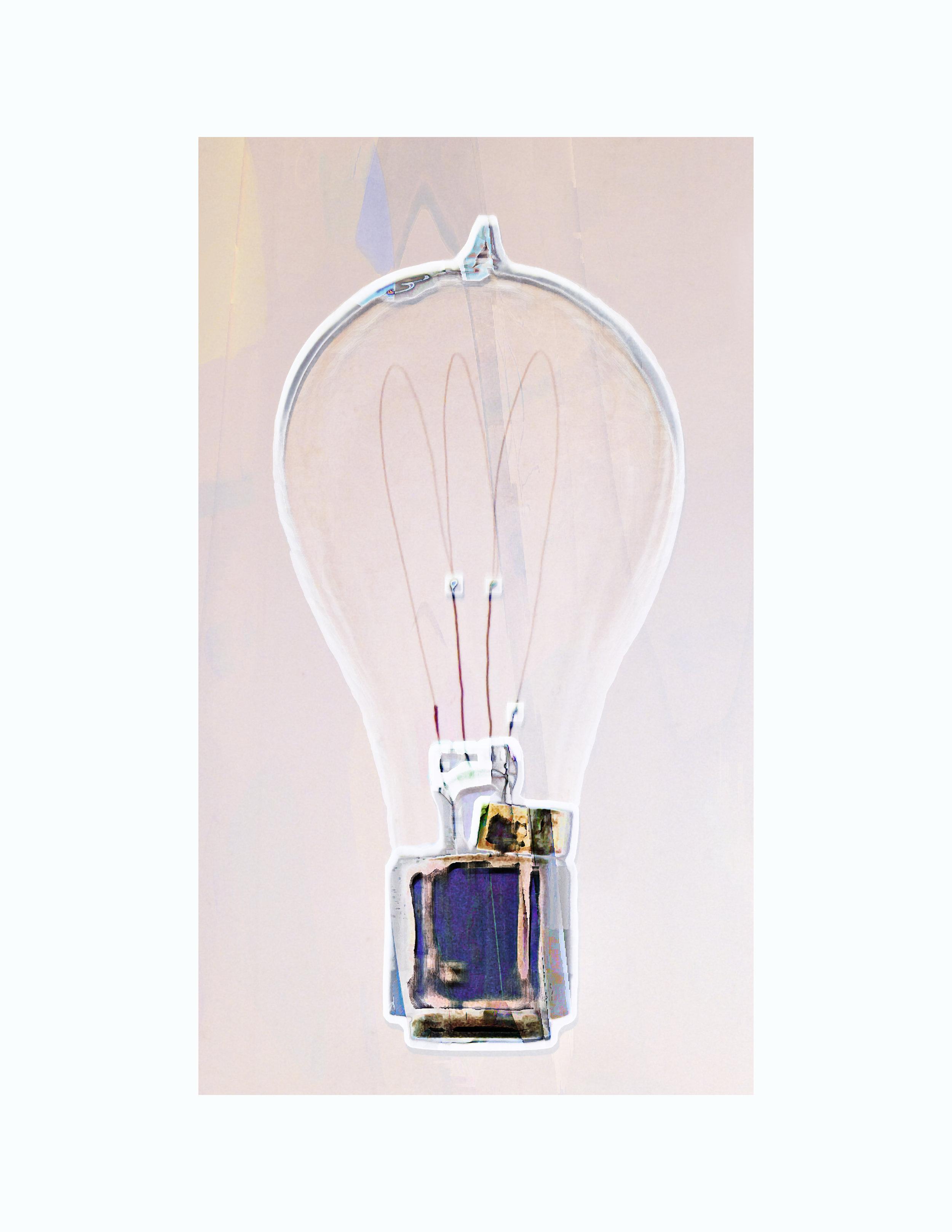 """Lightbulb # 1    by Mike Usher, $375  22"""" x 17"""""""