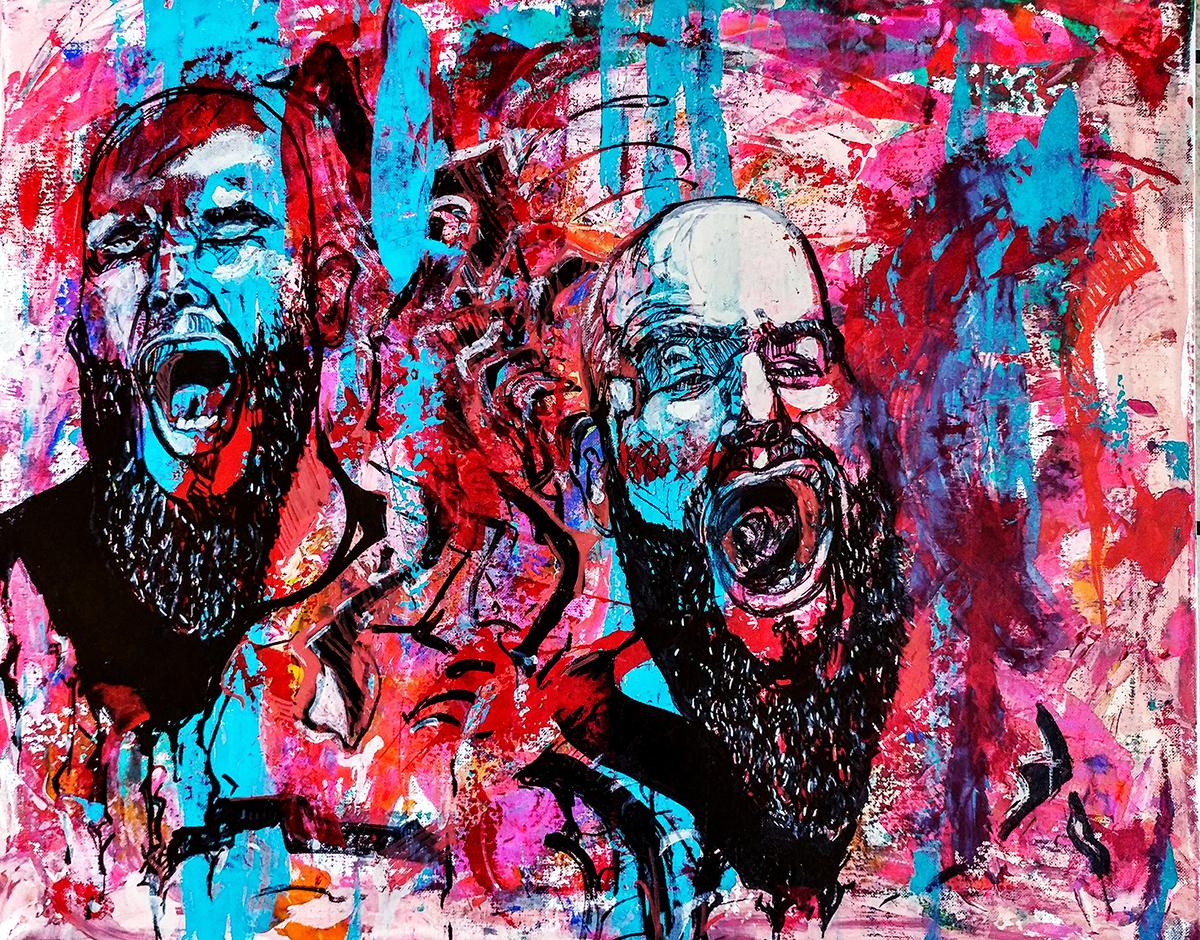 Yawning Fidel by Monica Tiulescu - $1,800