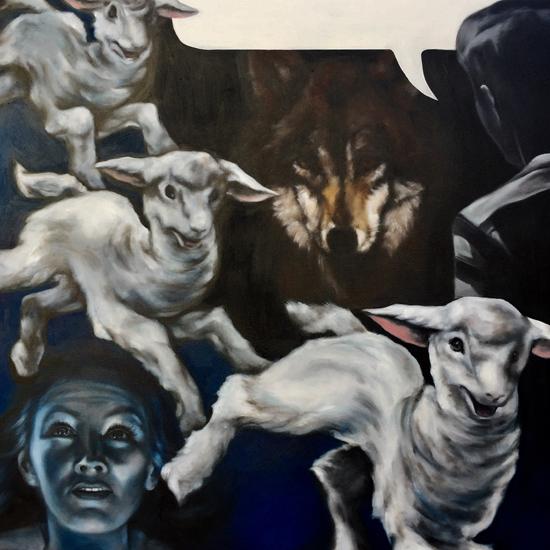 The Boy Who Cried Wolf by Lauren Mendelsohn-Bass- $1,500