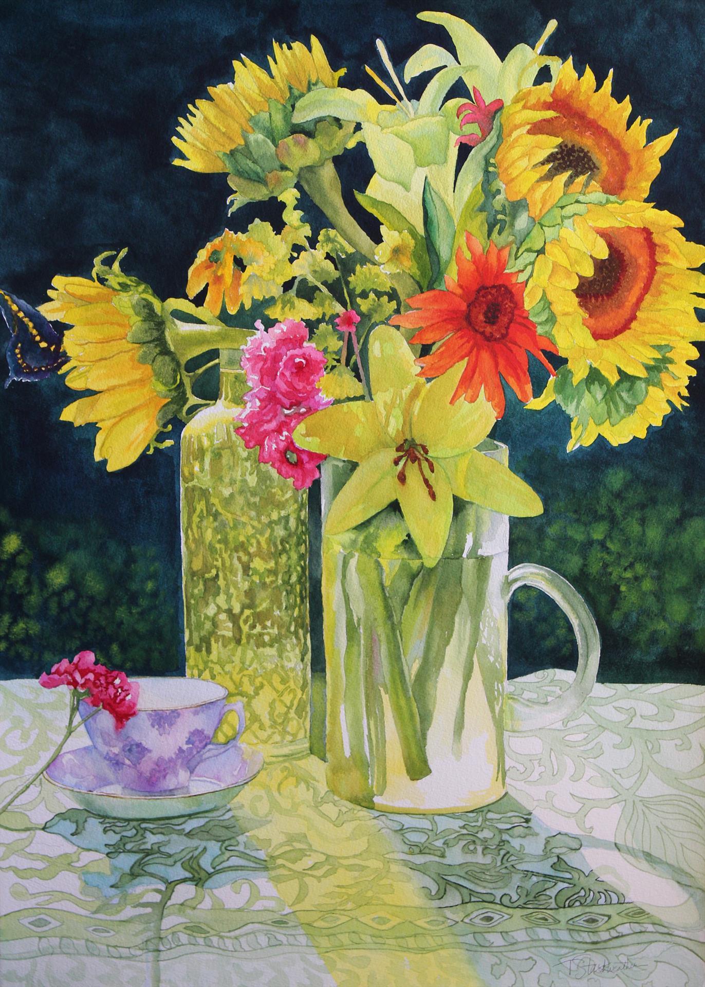 Teri Starkweather      Flowers of the Sun      $1800