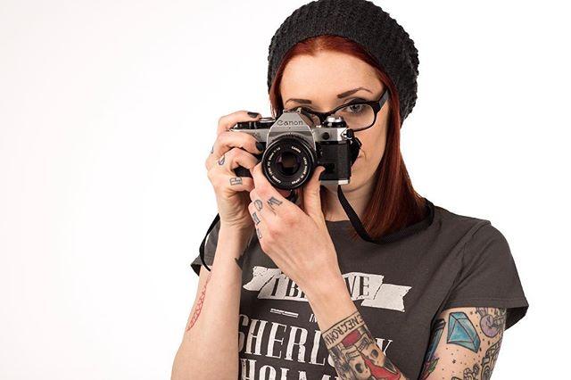 Just go shoot. . . With @foureyedphotographer . . #tulsaphotographer #studio #film #tattooedgirls #canon
