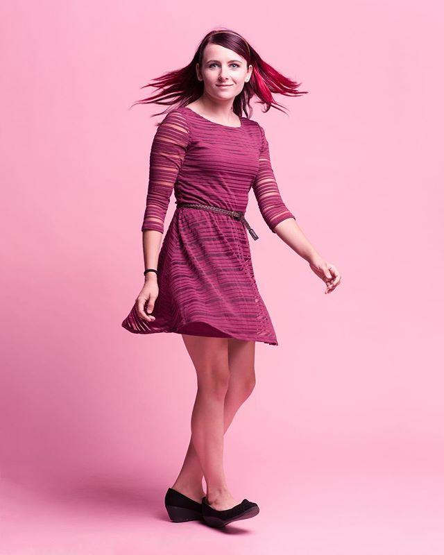 Twirl. . . With @whoa_its_shilo . . #tulsaphotographer #studio #pink #portraitphotography