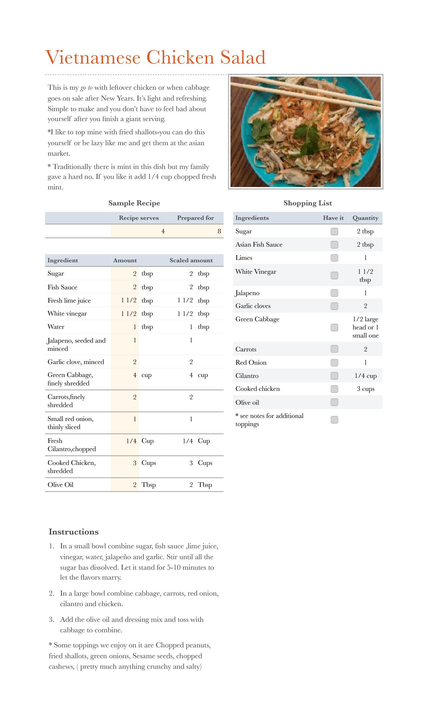 Vietnamese Chciken salad.numbers