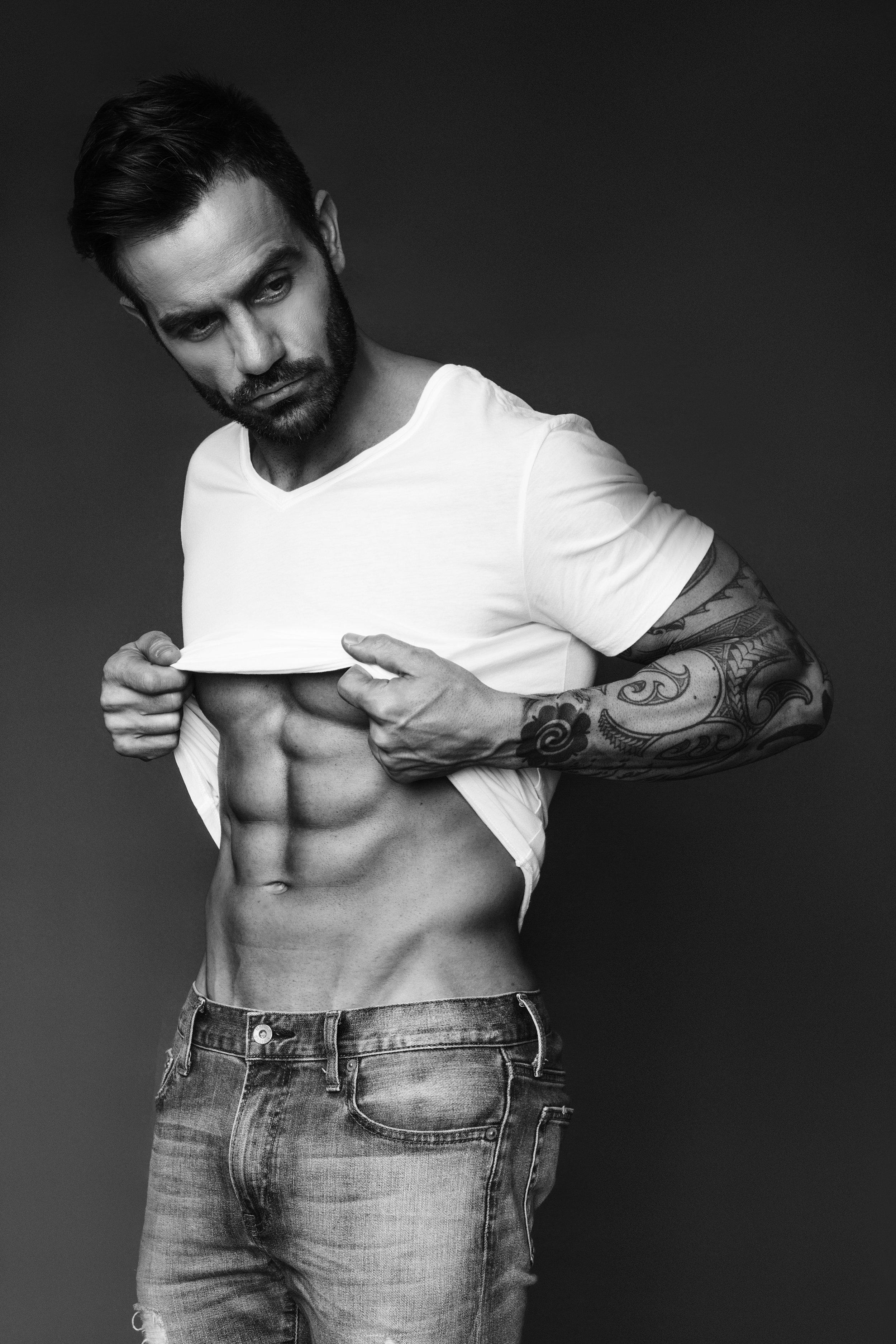Ramin Karimloo Shirtless