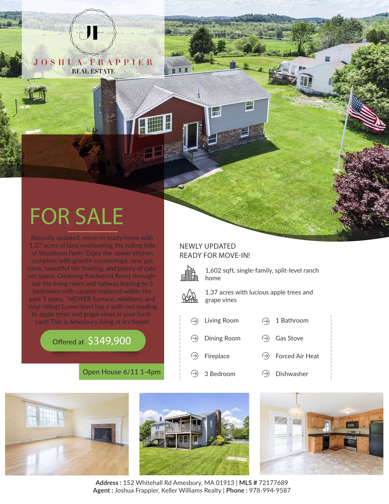 Listing Flyers For Real Estate - Make a powerful first impression that lasts! Summarize the details and separate yourself from the competition near Boston, MA with our custom listing flyers!  This is valuable content to give out at open houses to represent your brand.