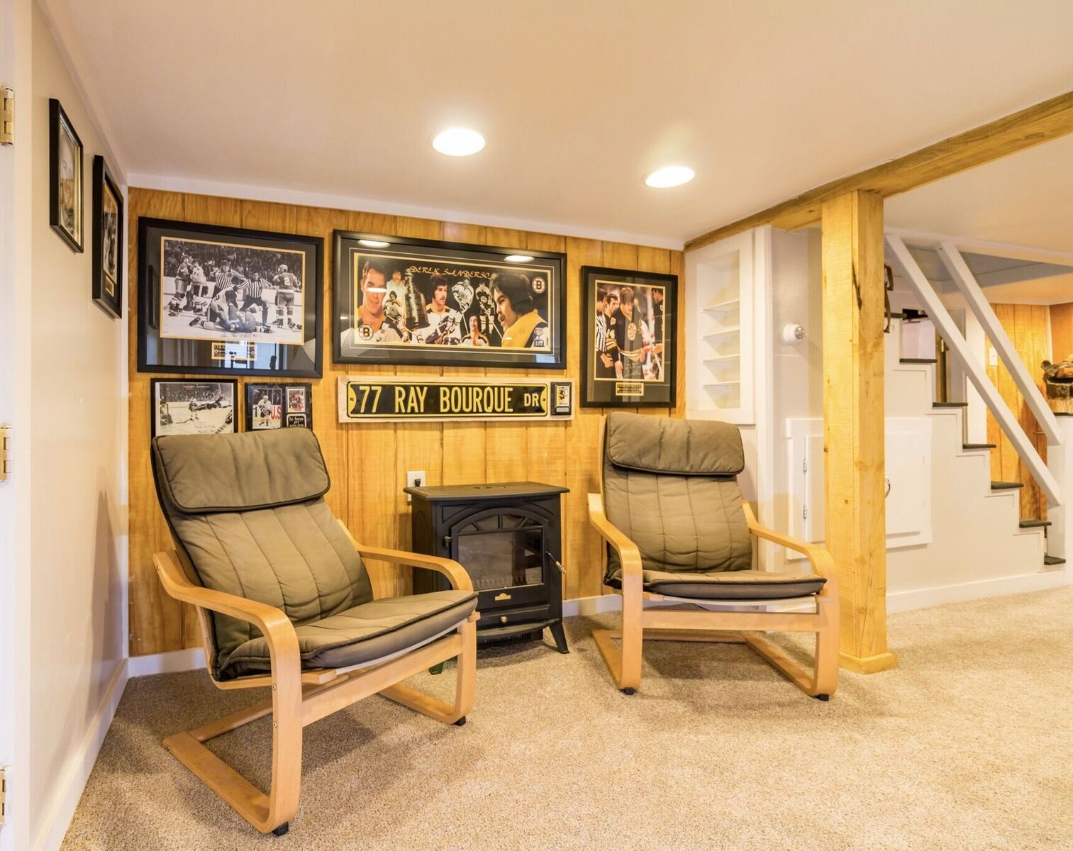 Here we highlighted a fully renovated basement in Salem, MA