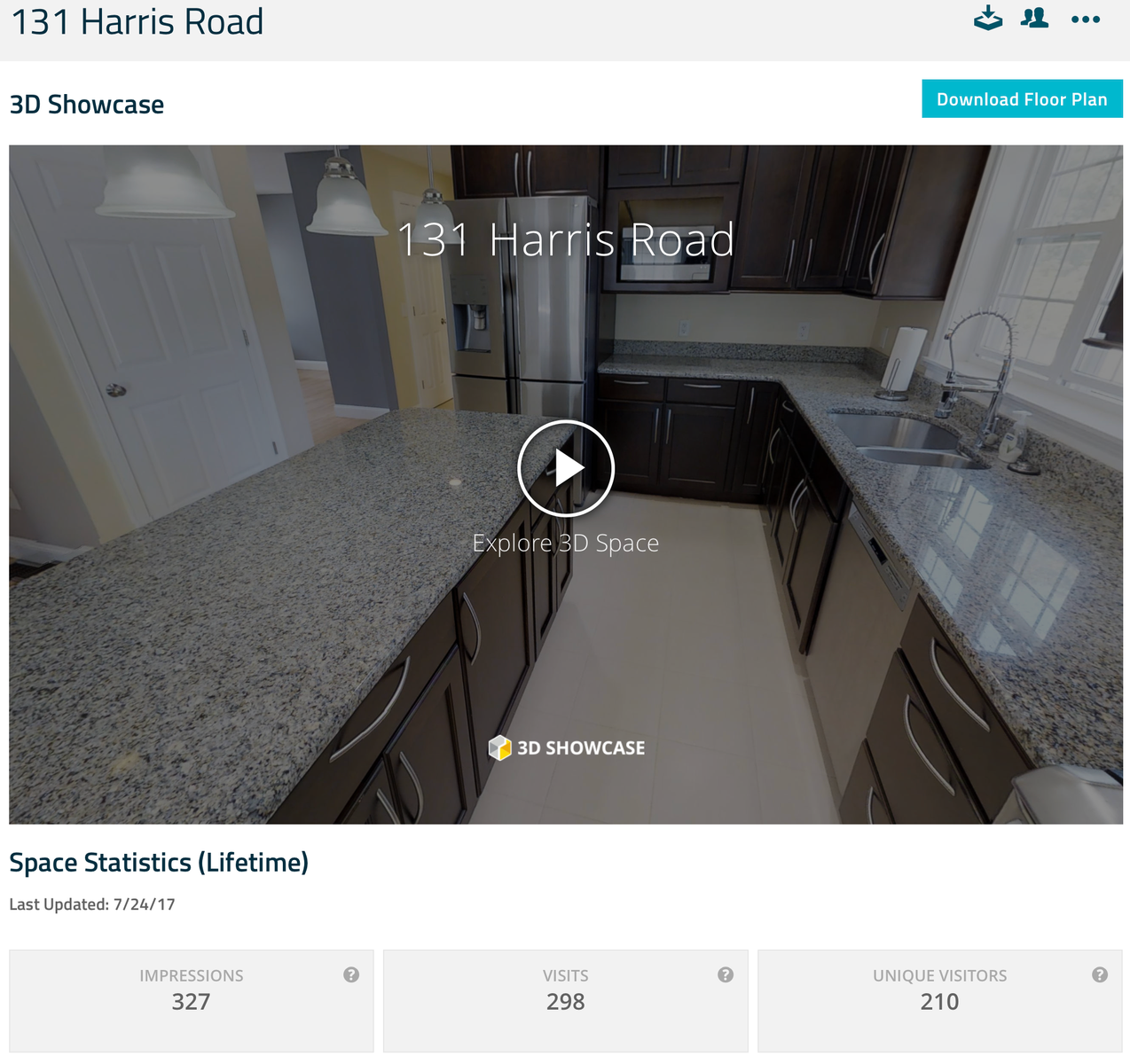 Analyze Results - After we create a 3D Virtual Tour or Video, we do not stop there. We track analytics on the virtual tour or video and see how many impressions it received and how many unique visitors returned. Doesn't this sound much easier than taking time out of your busy day to show a potential buyer your listing? Click the image to view a recent tour Overwatch Property Solutions created.
