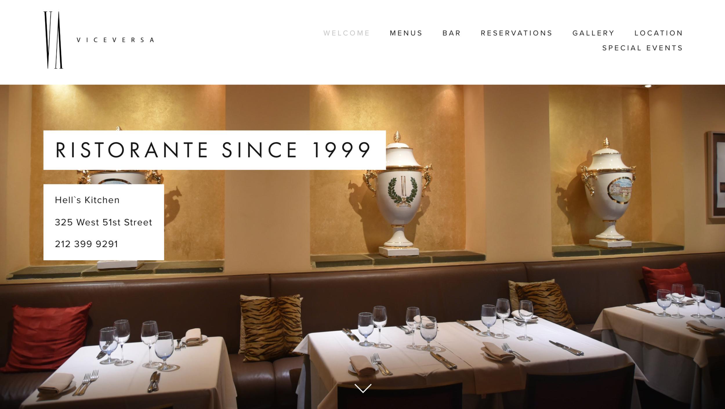 Viveversa Ristorante Website