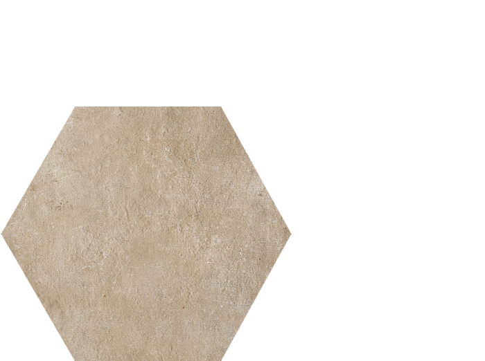approach taupe 13.75 x 16 hexagon