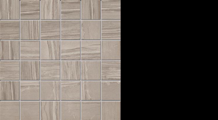 """elegante 2"""" x 2"""" mosaic on 13"""" x 13"""" sheet natural taupe"""