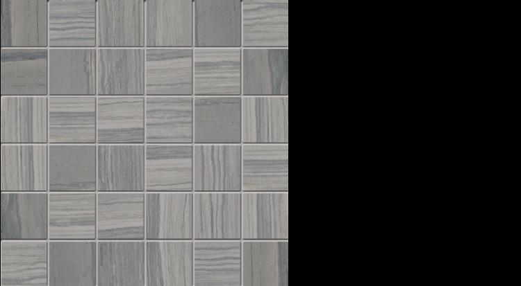 """elegante 2"""" x 2"""" mosaic on 13"""" x 13"""" sheet natural dark"""