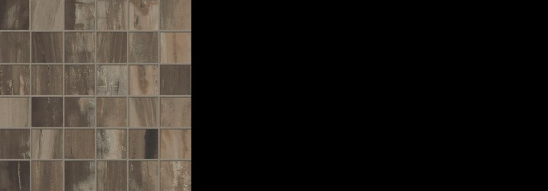 petrified wood 2x 2 mosaic on 12 x 12 sheet brown natural