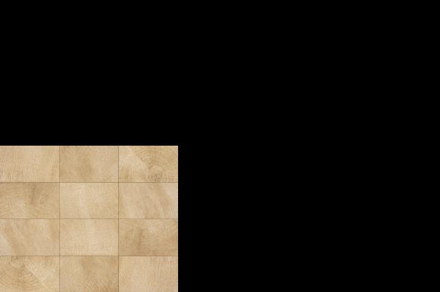 "wood look porcelain tile, 3"" x 5"" mosaic on 11.5"" x 14"" sheet beige heartwood"