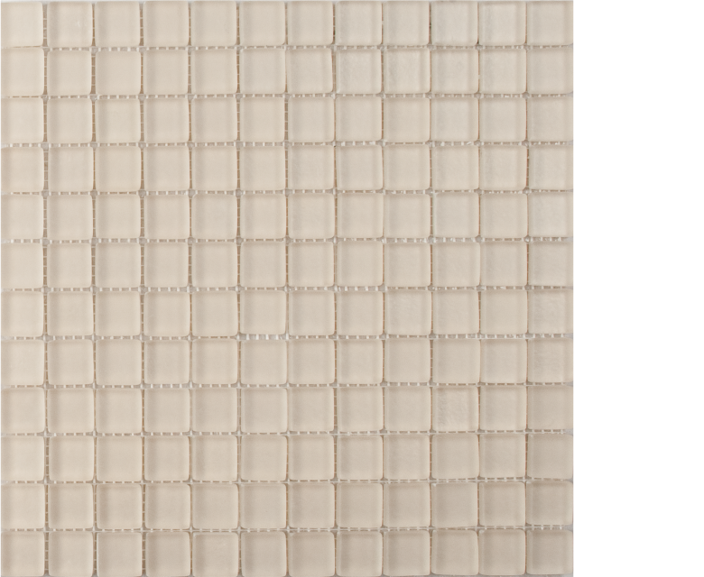 earth bone creme beige mosaic 1 x 1 on 12 x 12 glass