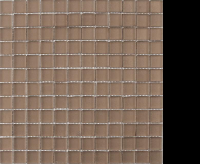 earth bone suede brown mosaic 1 x 1 on 12 x 12 glass