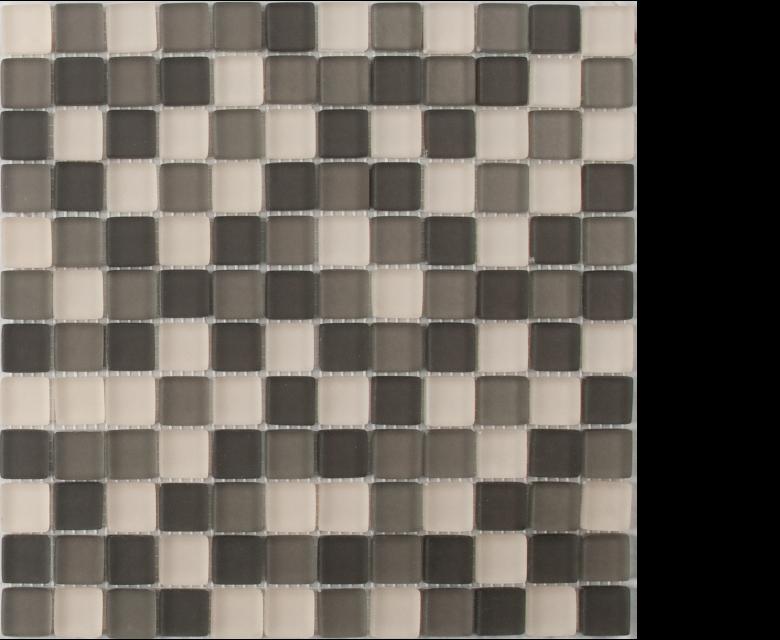 earth blend mosaic 1 x 1 on 12 x 12 glass