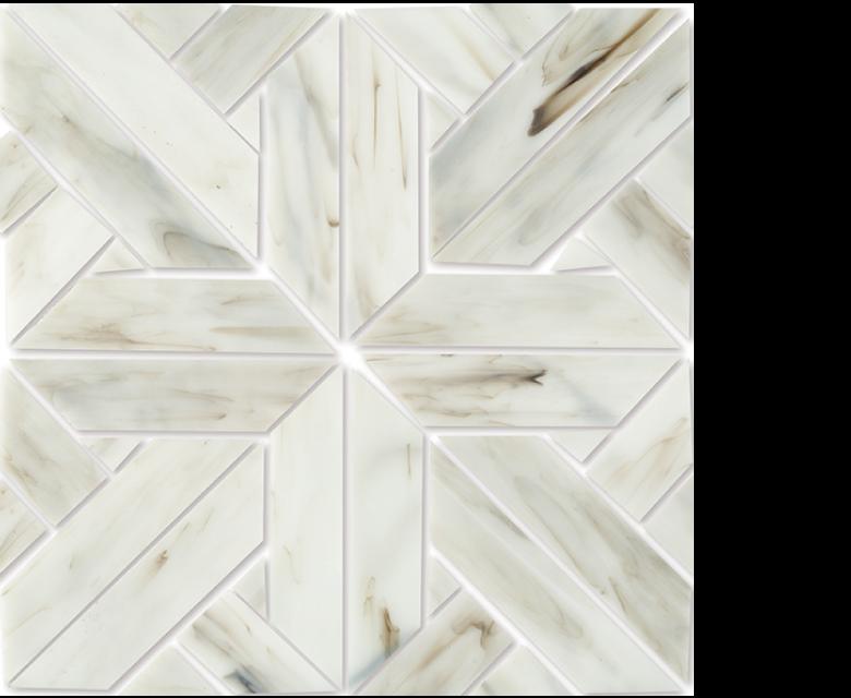 MP 100 A, glass mosaic white