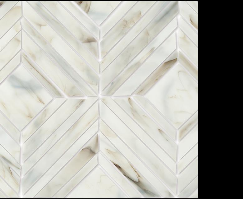 "MMP 101A  glass mosaic - 16"" x 12"" sheet white"