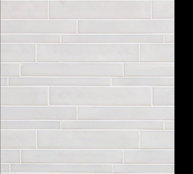Vetro Glass Mosaic Bianco Sfalfato White
