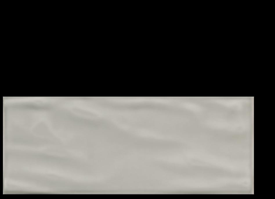 "Aria ceramic wall tile greige grey 8""x 20"""