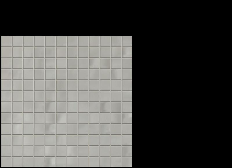 "Aria ceramic wall tile greige-grey 1""x 1"" on 12"" x 12"" sheet"