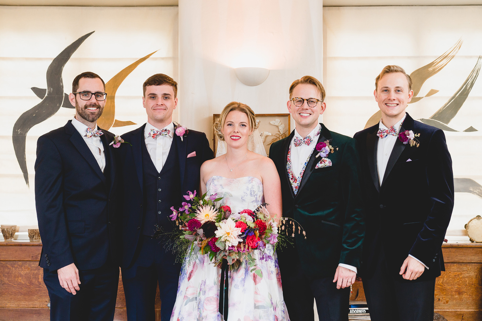 Natasha + Simon Wedding - UK - Bespoke hand painted print  photographer - James Rouse
