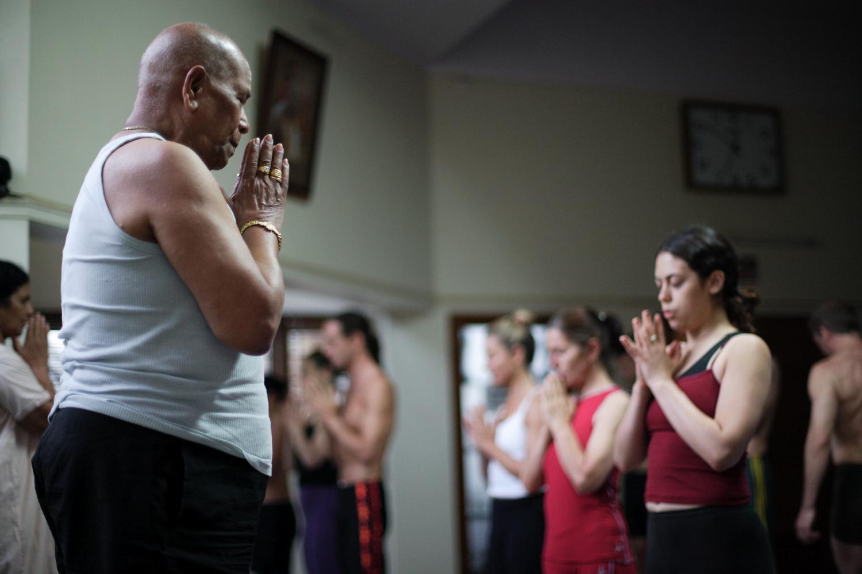 """""""Guru"""", the movie (photo by Robert Wilkins, Mysore 2004-5)."""