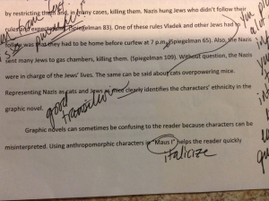 Example of a good transition in a 7th grade argumentative essay.