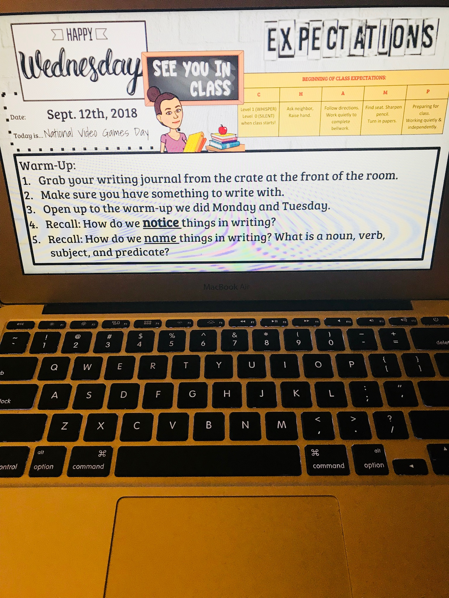 """Wednesday - Write like an author day! I repeated the phrase, """"Get ready to write like Jason"""" in order to get them excited about imitating authors' work."""