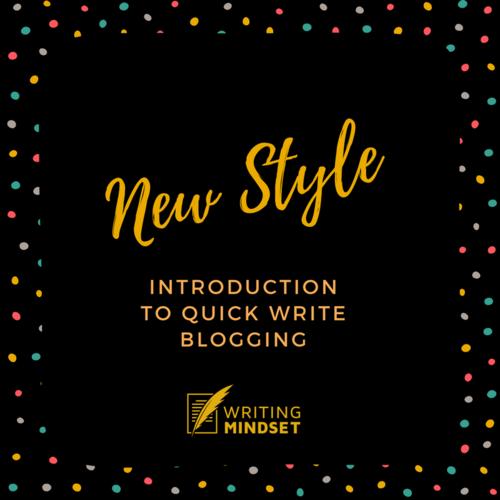 Quick Write Blogging