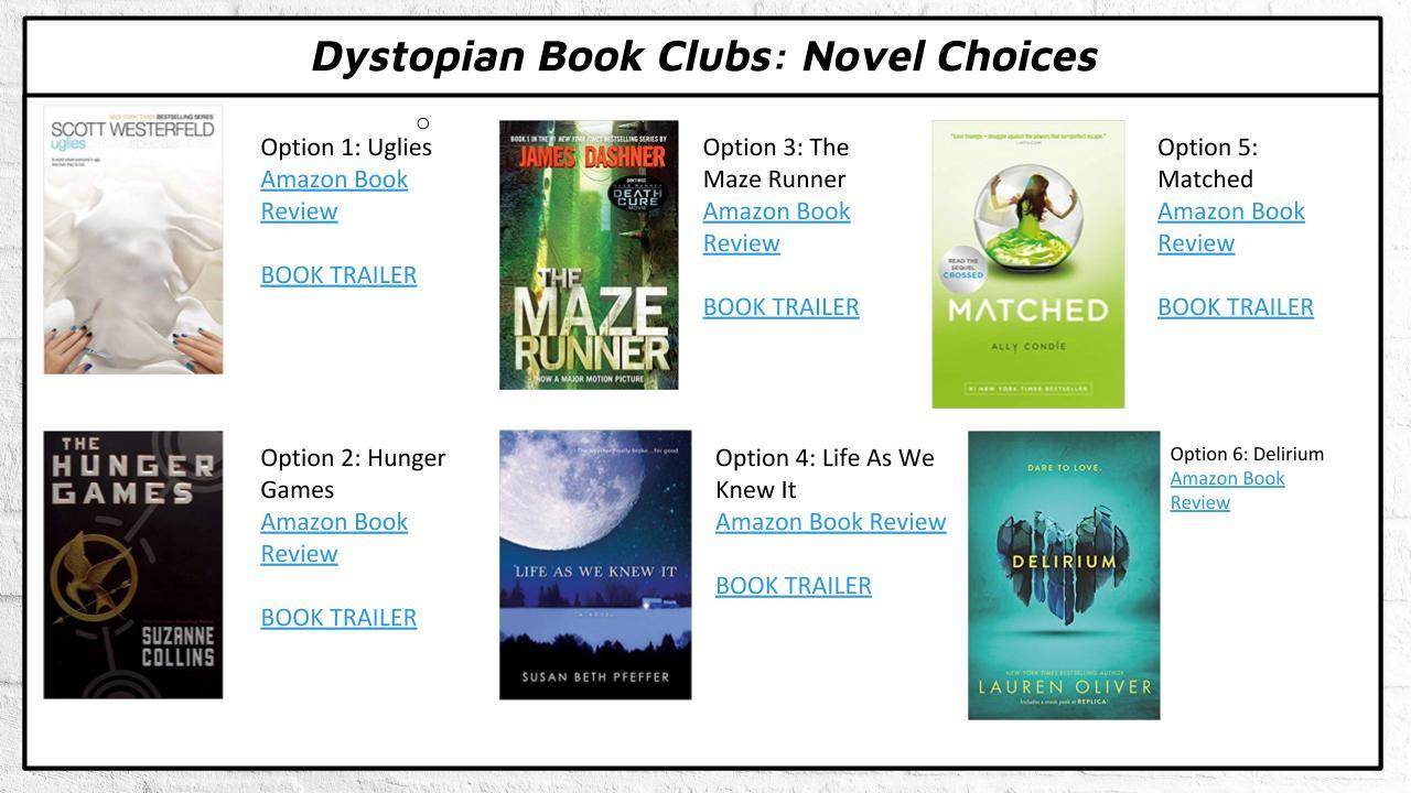 novel book choices