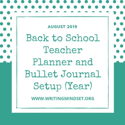 bullet journal teacher planner