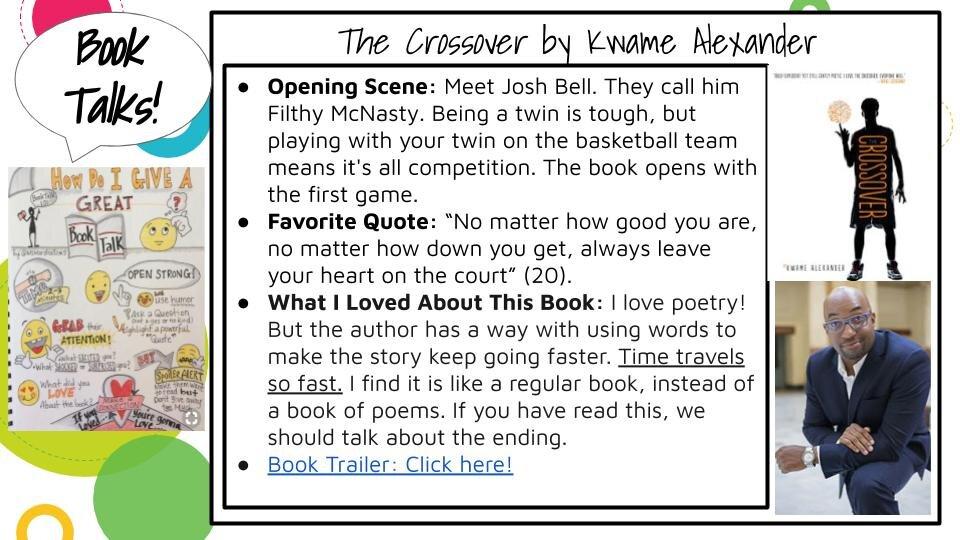 The Crossover Book Talk