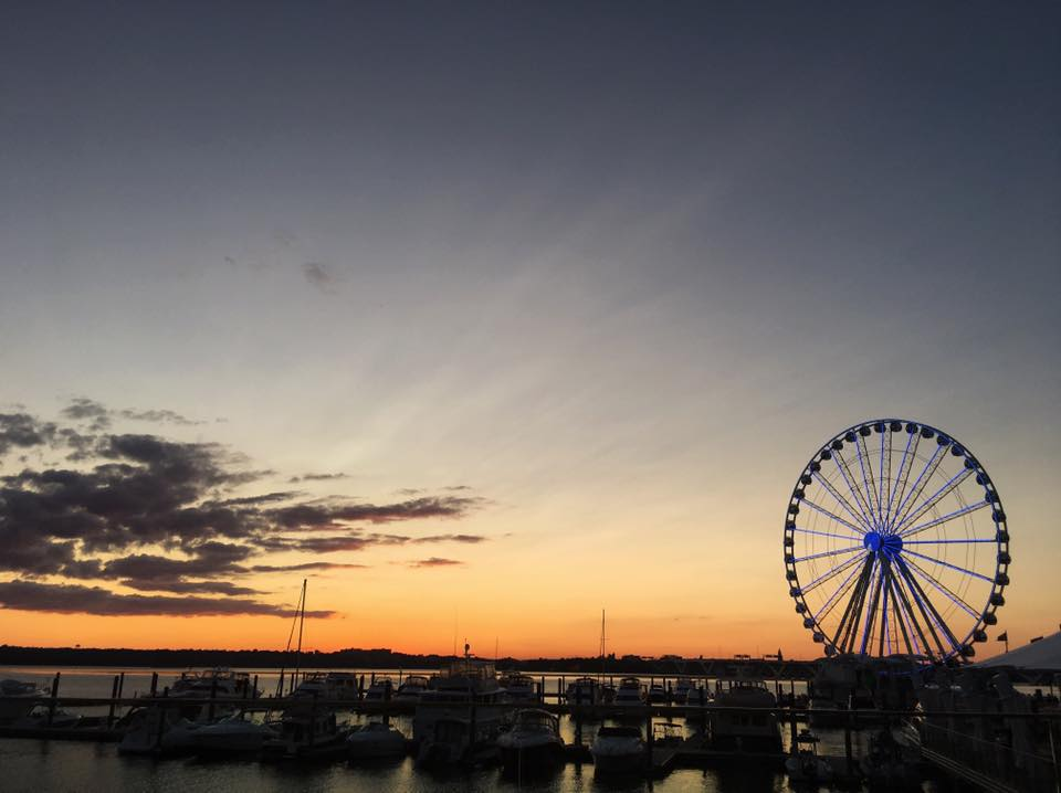 Day 1 was spent at the National Harbor. We did a wine tasting, had dinner and rode the Ferris Wheel.