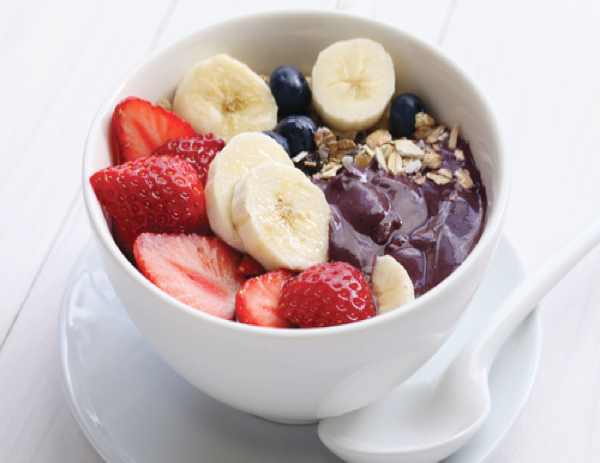 Now serving smoothie bowls blended with organic Brazilian superfood Acai & various other fruits & toppings!