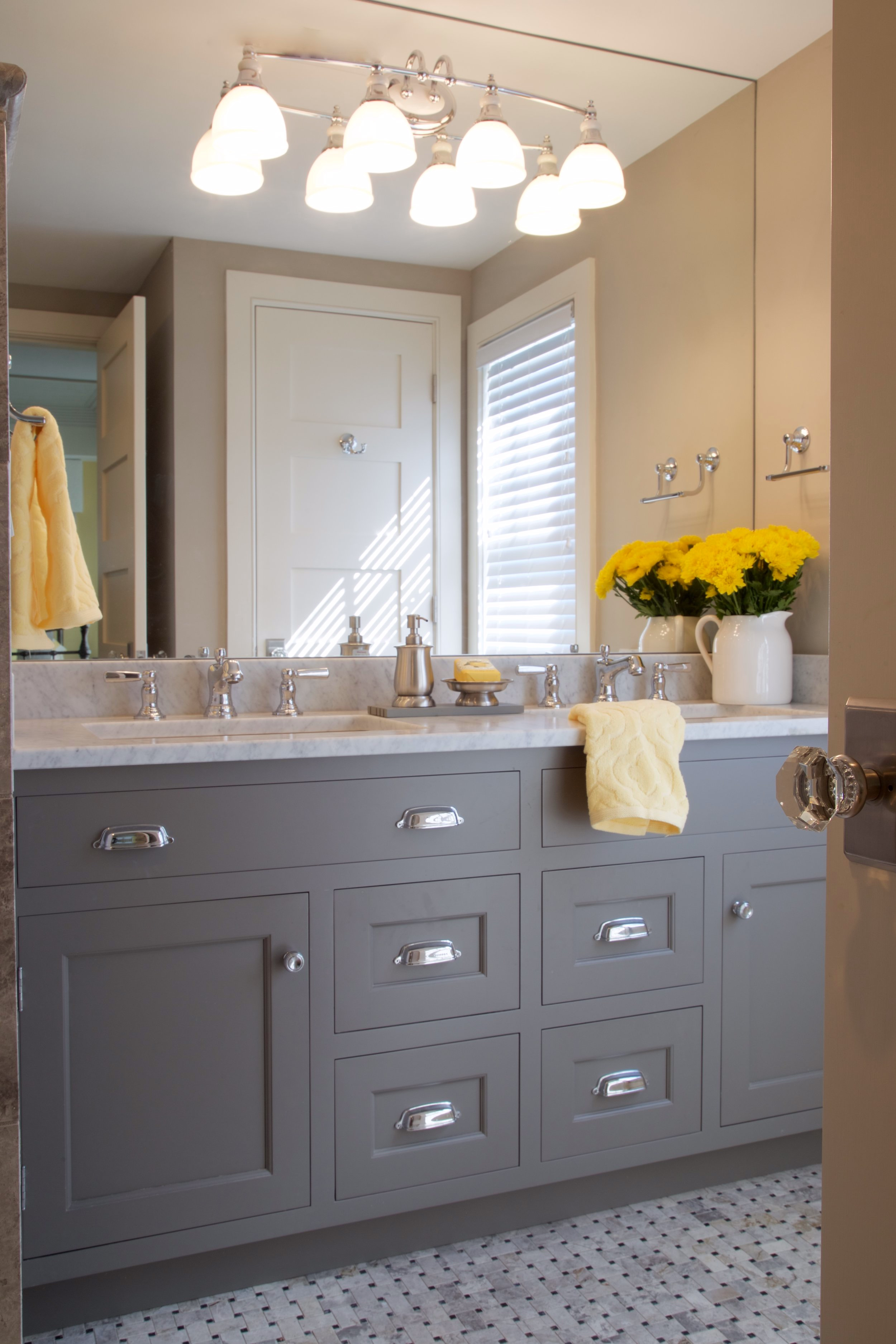 Modern Cottage - While spending summers at the beach these homeowners wanted modern bathroom style that blends seamlessly with rest of this coastal casual home.