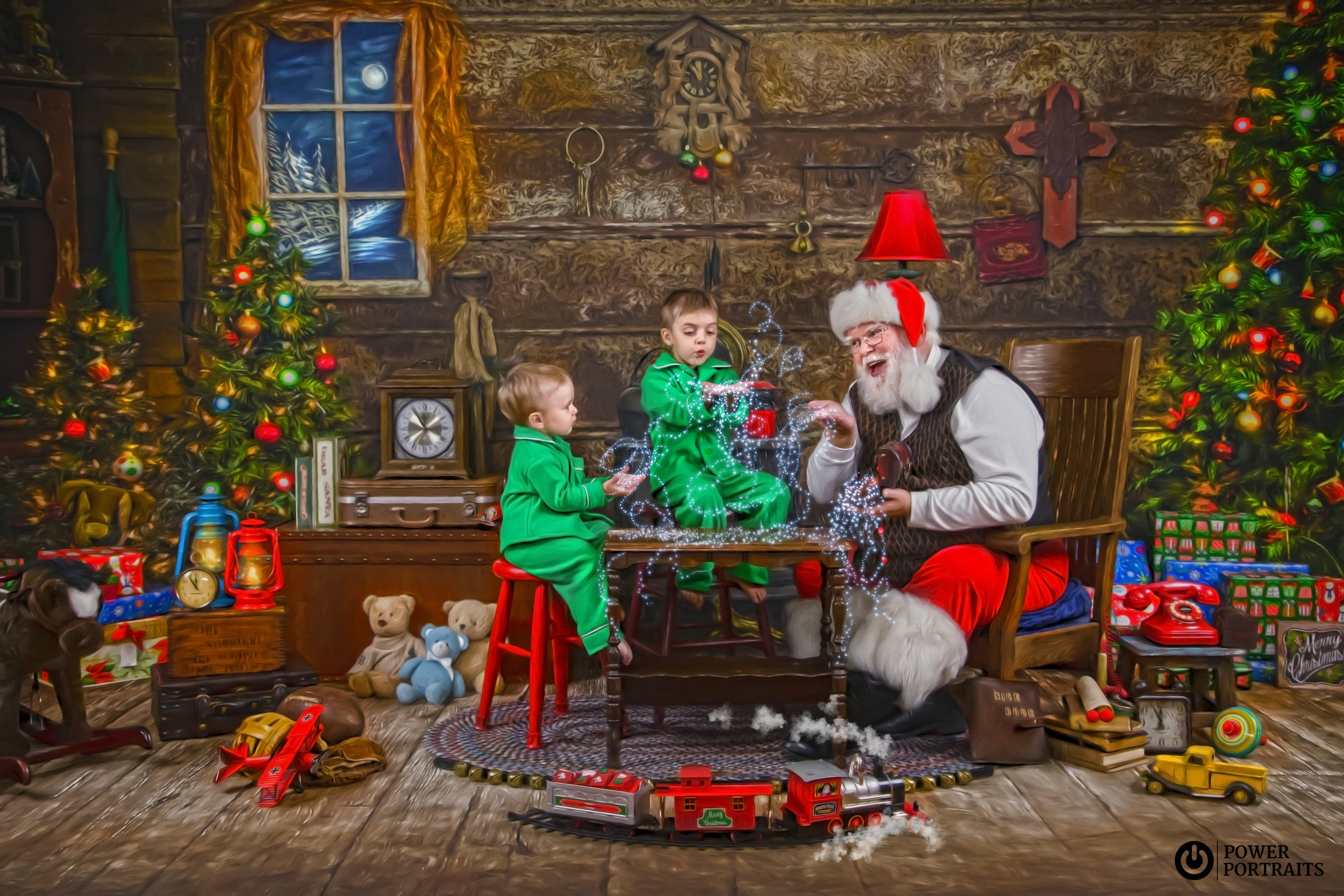 Santa's Storybook Workshop - Santa sharing his magic snow