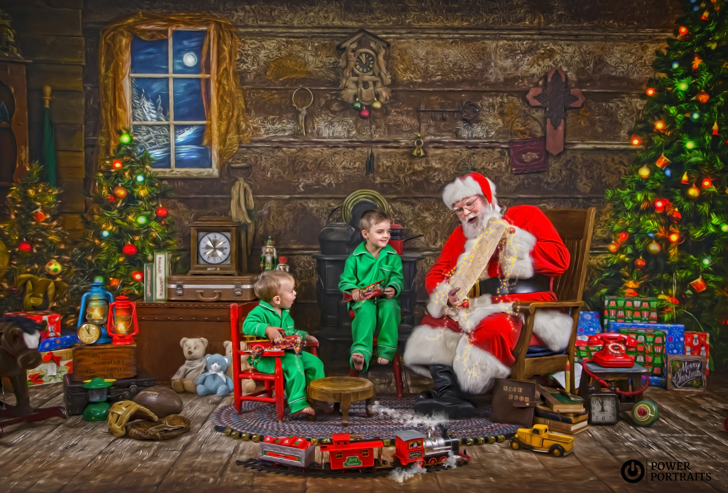 Santa's Storybook Workshop - Santa reviews his toy list